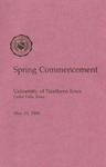 Spring Commencement [Program], May 10, 1986