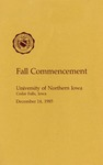 Fall Commencement [Program], December 14, 1985 by University of Northern Iowa