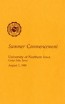 Summer Commencement [Program], August 2, 1985