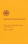 Spring Commencement [Program], May 11, 1985