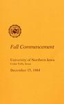 Fall Commencement [Program], December 15, 1984