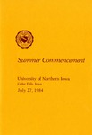Summer Commencement [Program], July 27, 1984