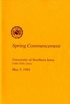 Spring Commencement [Program], May 5, 1984