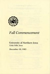 Fall Commencement [Program], December 10, 1983 by University of Northern Iowa
