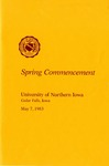 Spring Commencement [Program], May 7, 1983