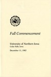 Fall Commencement [Program], December 11, 1982