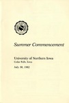 Summer Commencement [Program], July 30, 1982