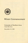 Winter Commencement [Program], December 12, 1981