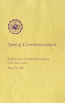 Spring Commencement [Program], May 23, 1981 by University of Northern Iowa