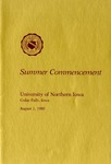 Summer Commencement [Program], August 1, 1980 by University of Northern Iowa