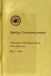 Spring Commencement [Program], May 17, 1980
