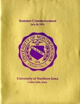 Summer Commencement [Program], July 28, 1978