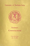 Summer Commencement [Program], July 30, 1976