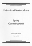 Spring Commencement [Program], May 26, 1973