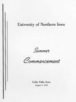 Summer Commencement [Program], August 4, 1972