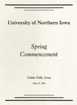 Spring Commencement [Program], May 27, 1972