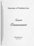 Summer Commencement [Program], August 6, 1971