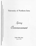 Spring Commencement [Program], June 4, 1971 by University of Northern Iowa