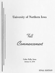 Fall Commencement [Program], January 21, 1970