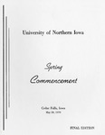 Spring Commencement [Program], May 28, 1970