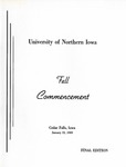 Fall Commencement [Program], January 22, 1969