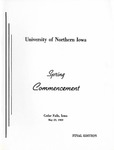 Spring Commencement [Program], May 29, 1969