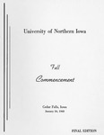 Fall Commencement [Program], January 24, 1968