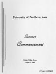 Summer Commencement [Program], August 2, 1968
