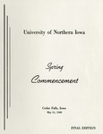 Spring Commencement [Program], May 31, 1968