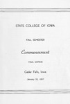 Fall Commencement [Program], January 25, 1967