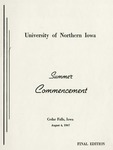 Summer Commencement [Program], August 4, 1967