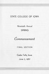 Spring Commencement [Program], June 2, 1967 by State College of Iowa