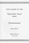 Spring Commencement [Program], June 3, 1966 by State College of Iowa