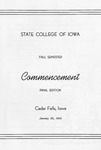 Fall Commencement [Program], January 26, 1965