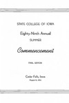 Summer Commencement [Program], August 6, 1965 by University of Northern Iowa