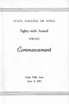 Spring Commencement [Program], June 6, 1963