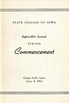 Spring Commencement [Program], June 8, 1962