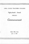 Spring Commencement [Program], June 9, 1961 by Iowa State Teachers College