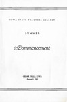 Summer Commencement [Program], August 4, 1960