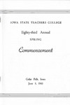 Spring Commencement [Program], June 8, 1960 by Iowa State Teachers College