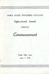 Spring Commencement [Program], June 3, 1959 by Iowa State Teachers College