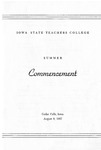 Summer Commencement [Program], August 8, 1957 by Iowa State Teachers College