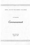 Summer Commencement [Program], August 8, 1957