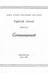 Spring Commencement [Program], June 7, 1957