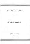 Summer Commencement [Program], August 2, 1956 by Iowa State Teachers College