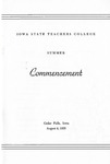 Summer Commencement [Program], August 4, 1955 by Iowa State Teachers College