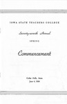 Spring Commencement [Program], June 4, 1954 by Iowa State Teachers College