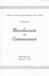 Summer Baccalaureate and Commencement [Program], August 16 & 17, 1953