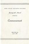 Spring Commencement [Program], June 6, 1953