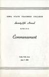 Spring Commencement [Program], June 7, 1952